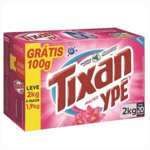 Lava-Roupas em Pó Tixan Ypê Leve 2kg Pague 1,9kg | R$12