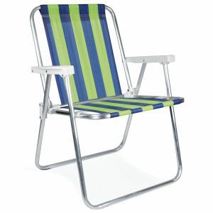 Cadeira Alta de Alumínio Mor, Cor Sortida - 2101 | R$50
