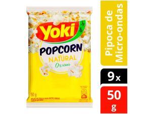 9 Unidades | Pipoca de microondas Yoki sem sal | R$6