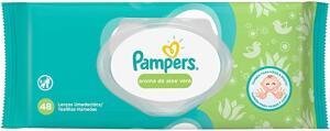 Lenços Umedecidos Pampers Aroma de Aloe Vera 48 Unidades | R$8