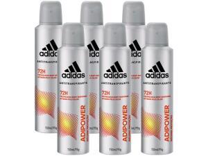 Desodorante Masculino Adidas Adipower 6un 150ml (R$7, 90 un) | R$47