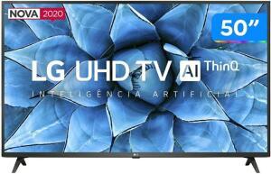 "Smart TV 50"" LG Bluetooth Inteligência Artificial 50UN7310PSC Google Alexa Comando de Voz Smart Magic| R$2005"