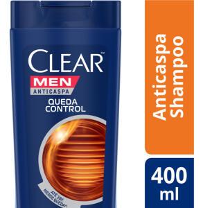 Shampoo Anticaspa Clear Men Queda Control 400ml - R$12