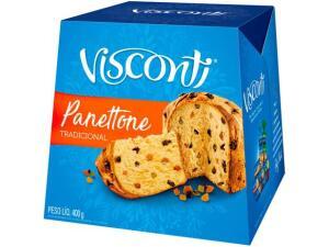 [C/ Cashback R$1,30] Panetone Visconti Tradicional - 400g - R$2,30