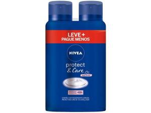 2 Unidades Desodorante Nivea Protect & Care Aerossol - Antitranspirante Feminimo 150ml   R$13