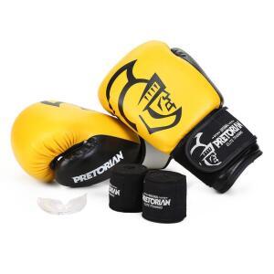 Kit de Luva Boxe/Muay Thai Pretorian 14oz + Bandagem + Protetor bucal | R$162