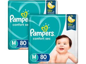 Kit Fraldas Pampers Confort Sec M, G e XG, 6 a 10kg - (2x) 80 unid cada | R$95