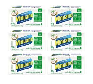 Sabão em barra Minuano Coco 500g - 30 unidades | R$25