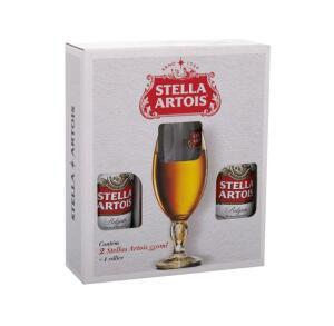 Kit Cerveja Stella Artois Lager 2 Unidades 550ml - com Cálice   R$24