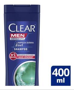 Shampoo Anticaspa Clear Limpeza Diária 2 Em 1 400ml   R$11