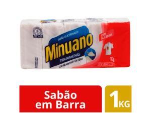 Sabão em Barra Minuano TIRA MANCHAS 1kg 5 Unidades | R$ 7,29