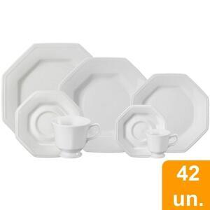 Aparelho De Jantar Chá Café Schmidt Porcelana Prisma 42 Peças - R$369