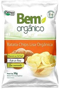 Batata Chips Lisa Bem Orgânico 30g R$5