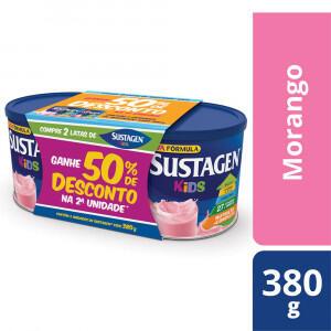 2 x Sustagen Kids Complemento Alimentar Infantil Morango 380g - R$25
