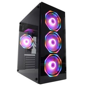 Gabinete Gamer Glass PcFort Com 4 Fans Inclusos - R$254