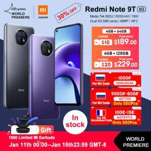 Smartphone Xiaomi Redmi Note 9T 5G 4/64 | R$1.096