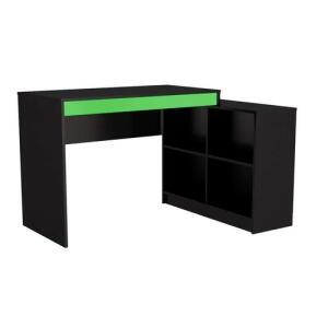 [R$235 no AME] Mesa Gamer Hype Preta e Verde | R$ 293