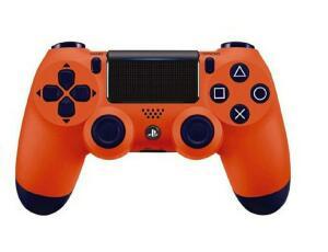 Controle PS4 Laranja Sunset Orange DualShock 4 Sem Fio PlayStation 4 Sony R$203