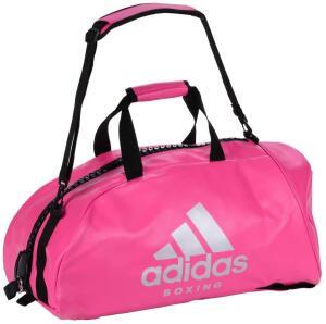[PRIME] Bolsa Mochila Adidas Boxing 2in1 PU Rosa/Prata   R$164