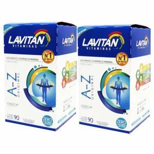 2 caixas Suplemento Vitamínico Lavitan Original A-Z 90 comprimidos