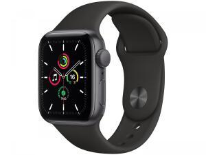 Apple Watch SE 40mm Cinza-espacial GPS + Cellular - Pulseira Esportiva Preta | R$3039