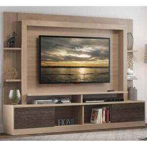 "[CC Shoptime/AME R$ 756 ] Estante c/ painel e suporte TV 65"" 2 ptas Viena | R$ 1512"