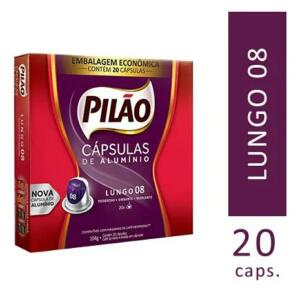 Cápsulas (de alumínio) Café Pilão Lungo 8 20un | R$27