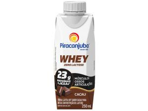 Bebida Láctea Piracanjuba Whey Cacau Zero Lactose - 250ml | R$1,36