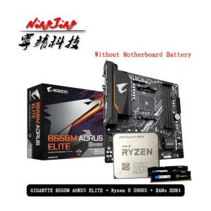 AMD ryzen 9 3900x + B550M Aorus Elite + memoria RAM 2x16 | R$3995