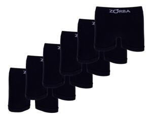 Kit 6 Cuecas Boxer Seamless Zorba - Preto 781 1016781115 | R$ 56