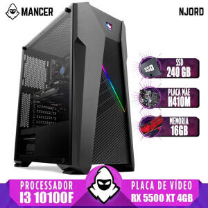 [Cartão Submarino] PC Gamer Mancer Intel I3, RX 5500, 16GB, SSD 240GB | R$ 3662