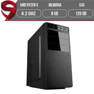 [AME R$2433] Computador AMD Ryzen 5 (3400G) 8GB DDR4 (Placa de vídeo Radeon VEGA 11) SSD 120GB - R$ 2510