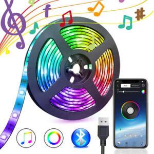Fita Led 5V USB Power bluetooth Música remoto APP 5050 RGB TV Backlight 3m R$57