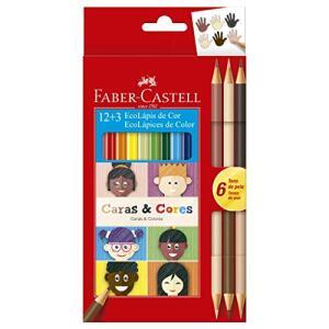 [Prime] Lápis de Cor Ecolápis Caras & Cores 12 Cores + 6 Tons de Pele, Faber-Castell | R$14