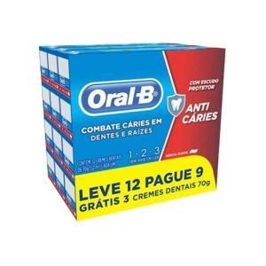 [AME R$12,98] Creme Dental 123 Menta 70g - (Leve 12, Pague 9) - Oral B