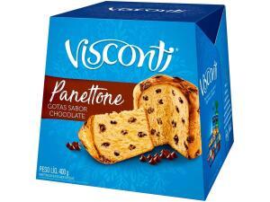 Panettone com Gotas de Chocolate VISCONTI Caixa 400g | R$7