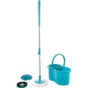 Mop Giratório 3 em 1 - Refil Microfibra, Tira Pó e Limpeza Pesada | R$50