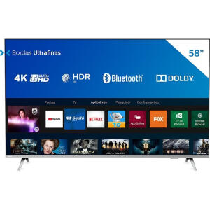 "Smart Tv Philips 58"" 4k Uhd Hdr10+ Dolby 58PUG6654 | R$ 2430"