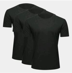 Kit 3 camisetas básicas masculina R$36