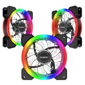 Kit Fan com 3 Unidades Alseye D-Ringer, ARGB, 120mm 5V | R$156