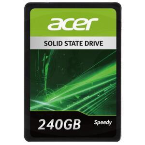 SSD Acer, Speedy, 240GB, SATA III, 550MB/s leitura, 490MB/s gravação | R$280