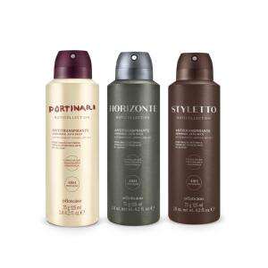 Combo Boticollection Desodorante Antitranspirante: Horizonte 75g + Styletto 75g + Portinari 75g | R$ 55