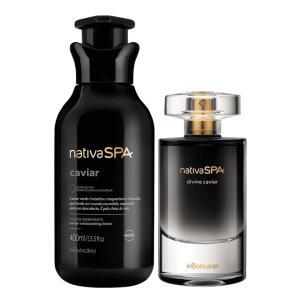 Combo Nativa SPA Caviar: Divine Caviar Desodorante Colônia + | R$ 122