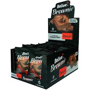 Belive Brownie de Chocolate Sem Açúcar Sem glúten Sem Lactose, 10 unidades de 40g | R$ 34