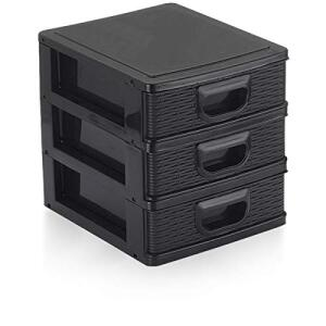Micro Porta Tudo Textura 3 Gaveta 01 Unidade Monte Líbano Multicor | R$16