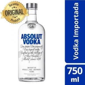 Vodka Absolut 750 ml R$60