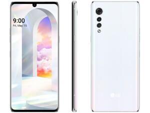 "LG Velvet 128GB Aurora White Octa-Core - 6GB RAM Tela 6,8"" Câm. Tripla + Selfie 16MP R$2369"