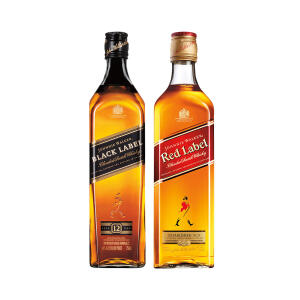 Whisky Johnnie Walker Red Label 750ml + Whisky Black Label 750ml R$125