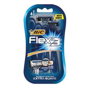Aparelho De Barbear Bic Flex 3 Com 4 Unidades | R$1,99