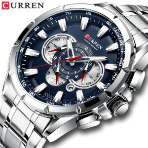 Relógio Curren esporte causal chronograph masculinos banda de aço inoxidável - R$112
